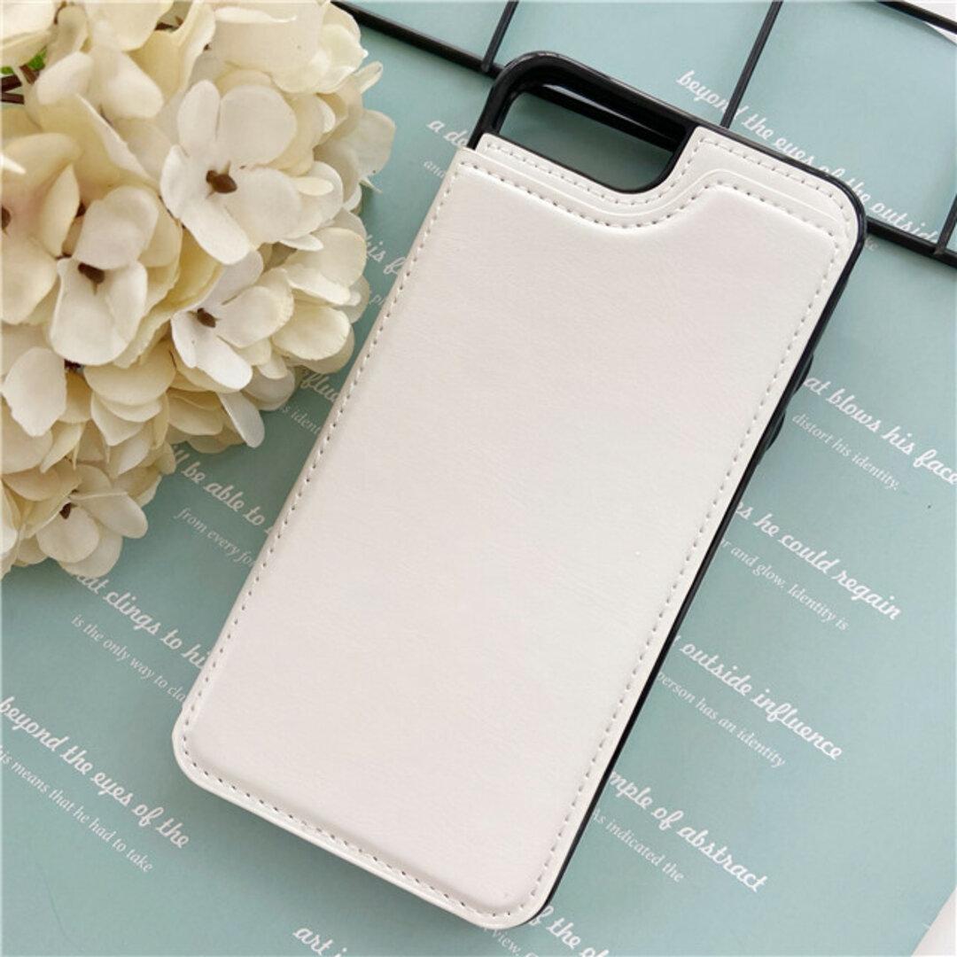 iPhoneスマホケース/iphone12 /iPhoneXR/ iPhoneSE2/名刺・カード収納/ホワイト