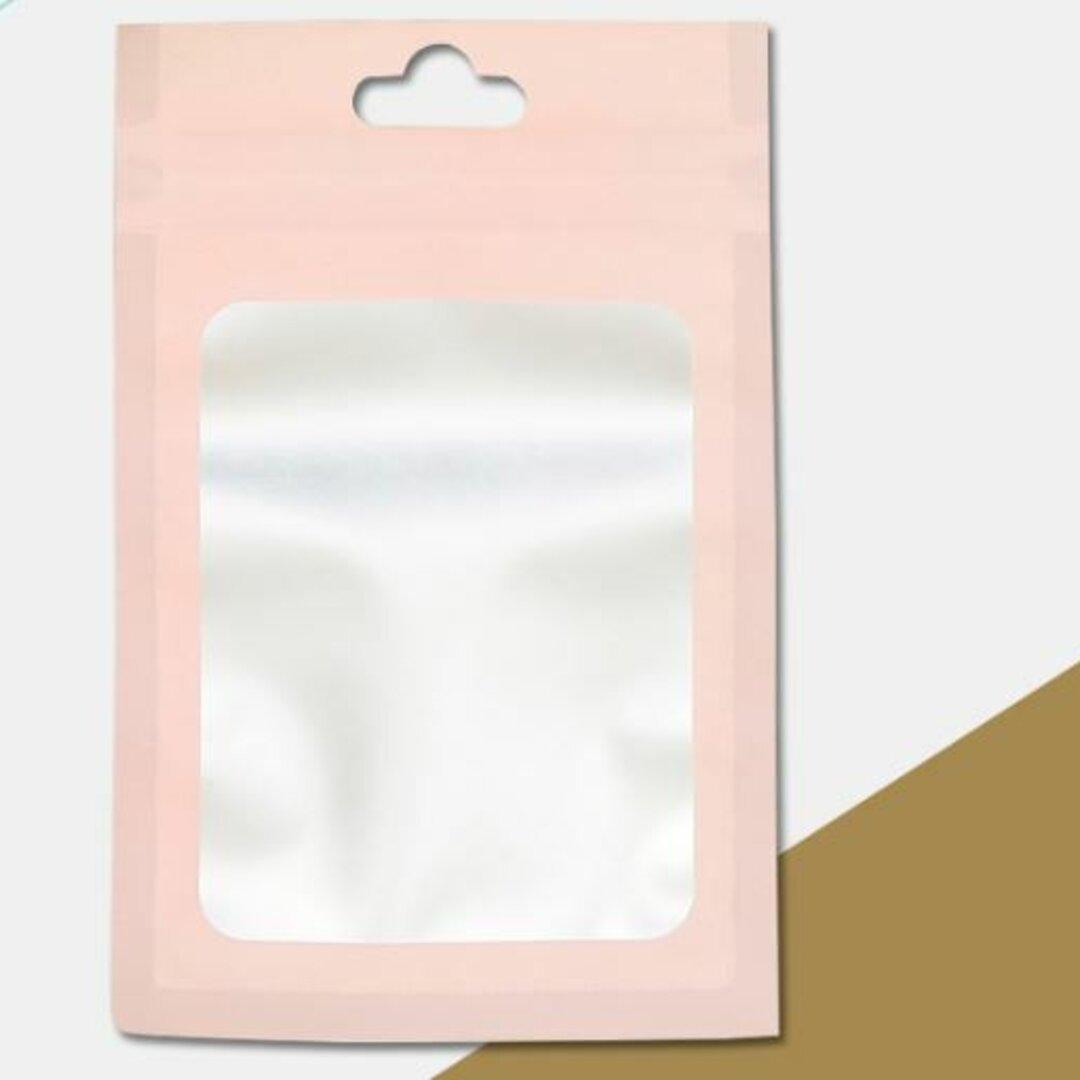 アクセサリー袋 ピンク チャック袋 15枚 アクセ収納 ビニール袋 穴つき
