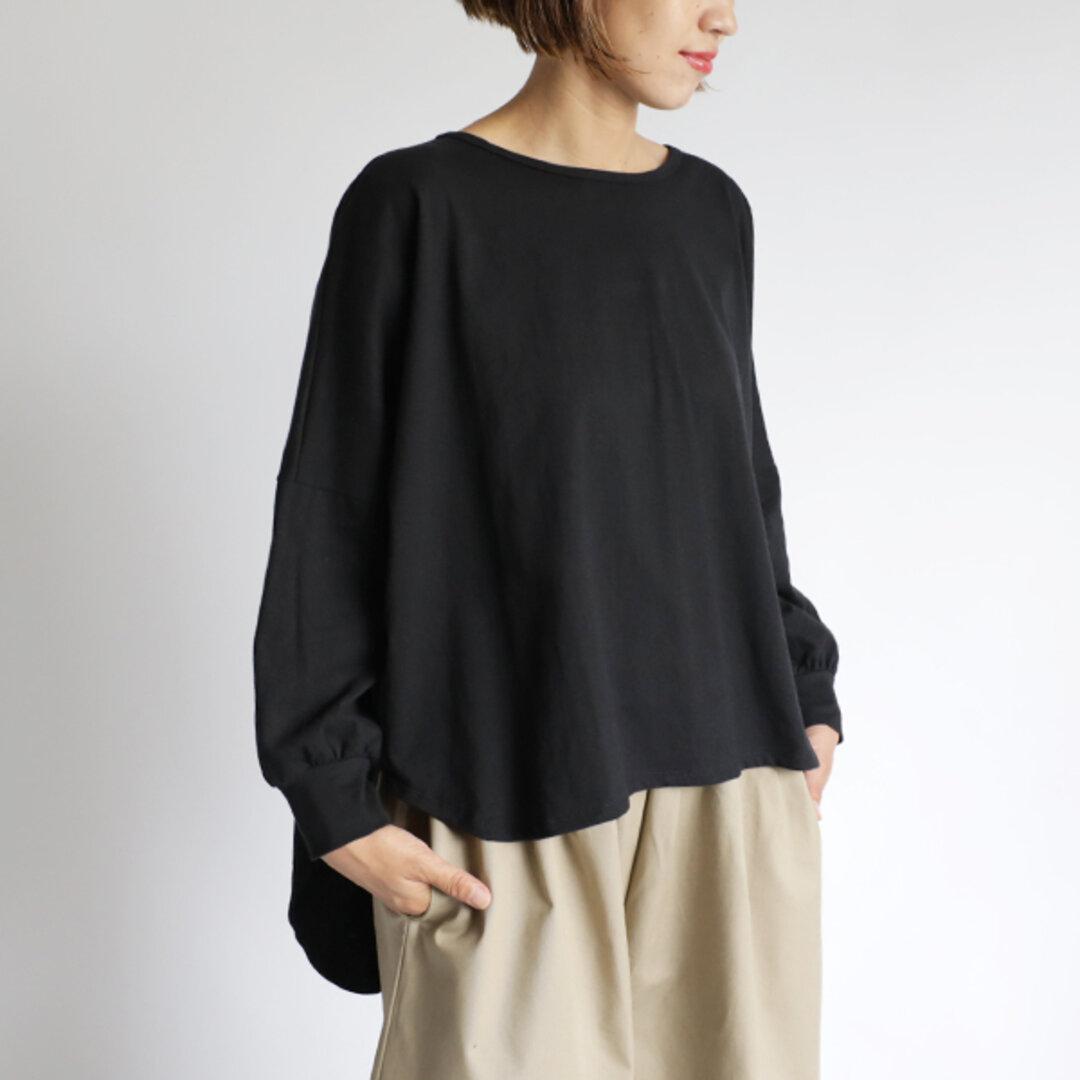 新作『 かぶるだけでサマになる燕尾裾カットソー 』度詰 天竺コットン100%Tシャツ カットソー K34