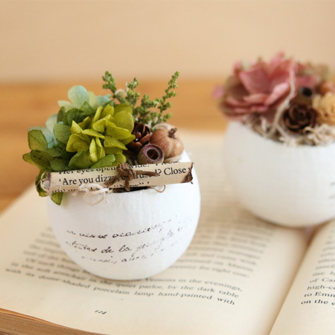 Egg cup アンティークカラー Green&Pink セット