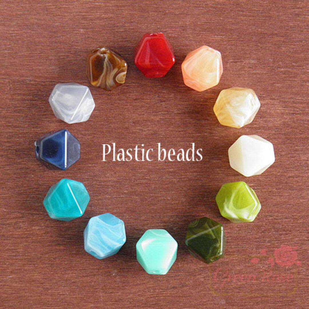 マーブルビーズ【オクタゴン】12色24個 /beads558