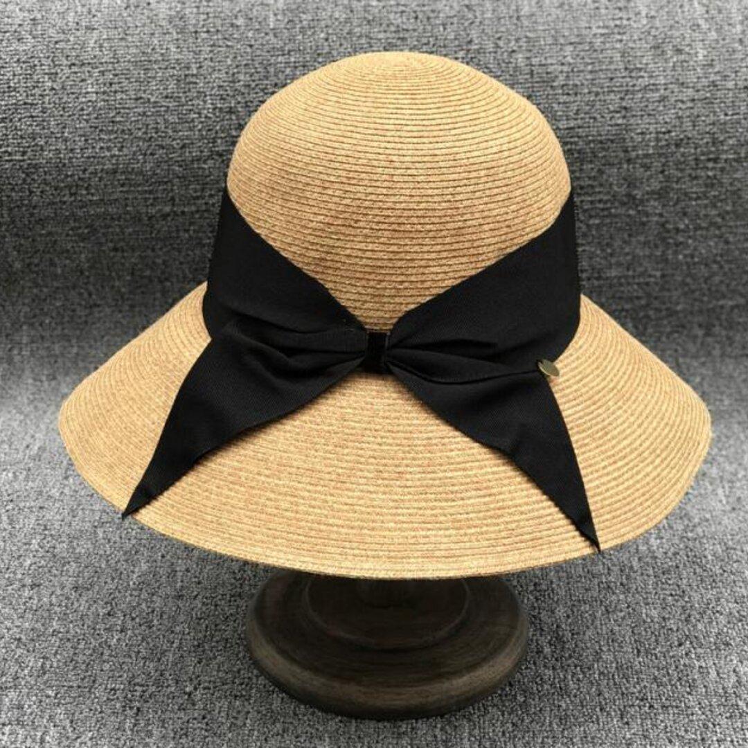 帽子☀レディース 夏帽子 ストローハット ハンドメイド ハット 夏のお出かけ アウトドア 日よけ帽子 夏
