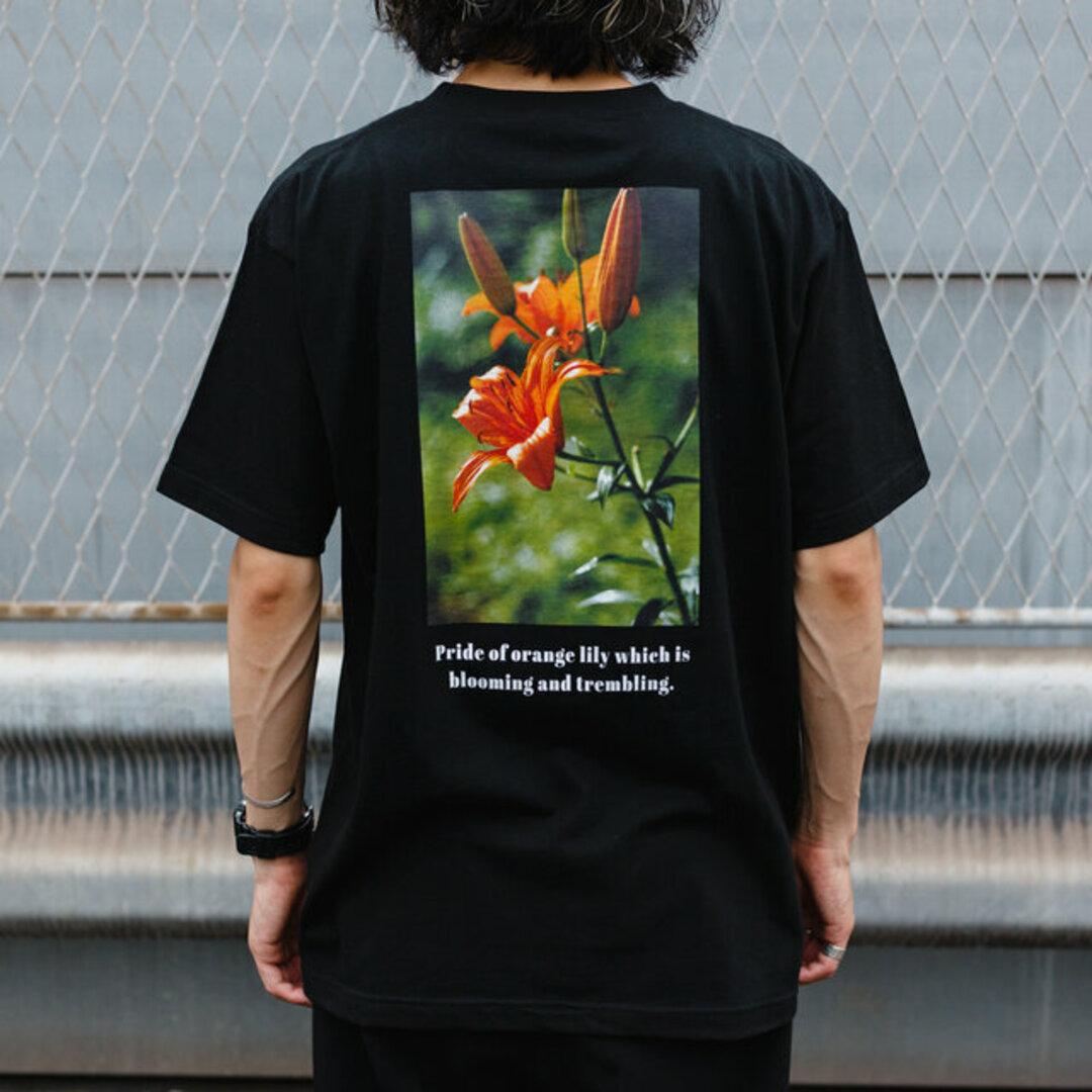 送料無料【OPTIMUS】メンズバックプリントTシャツ_003オニユリ ユニセックス