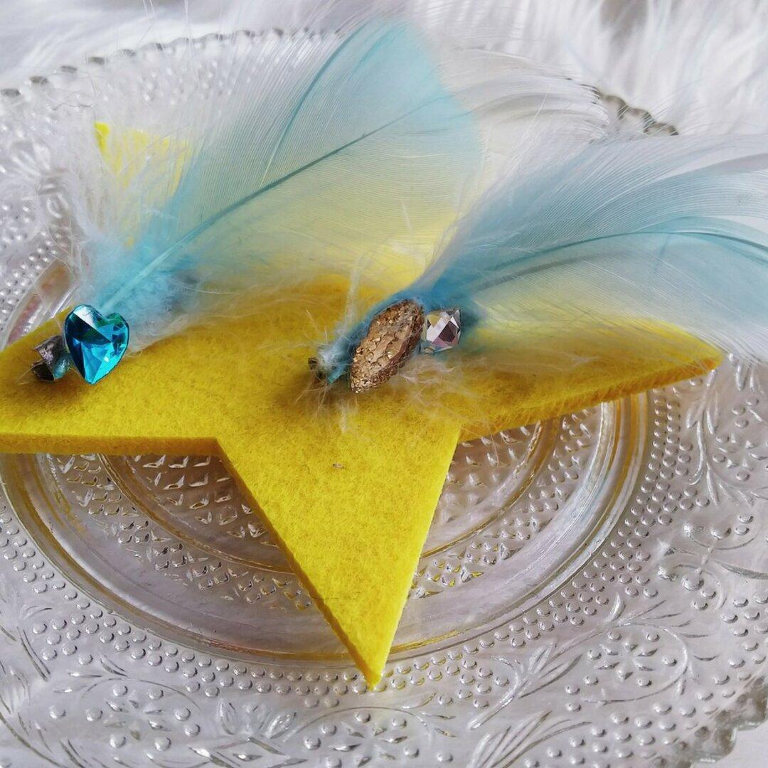 天使の羽根ブローチ