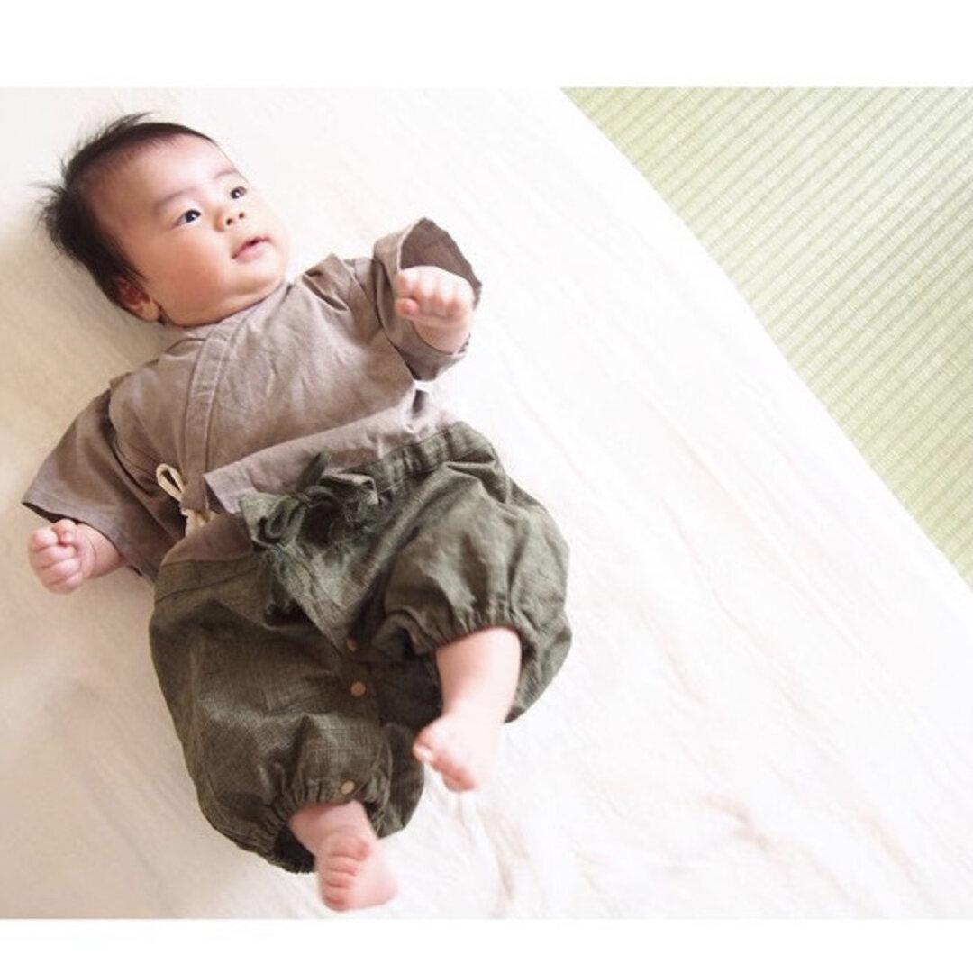 ♡600超!ハレの日に贈る、プリミーベビーのための袴ロンパース45cm 50-60cm 80cm
