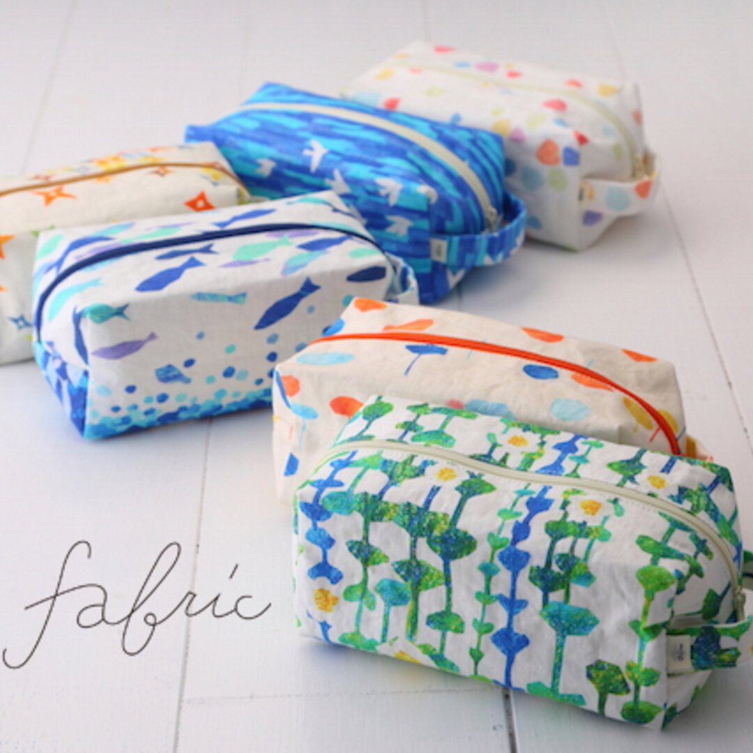 近江湖東麻のポーチ・ペンケース 1/6 fabric