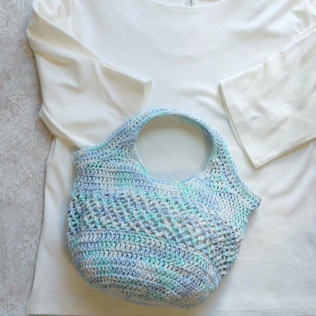 ☆送料無料☆手編み夏手さげバッグ