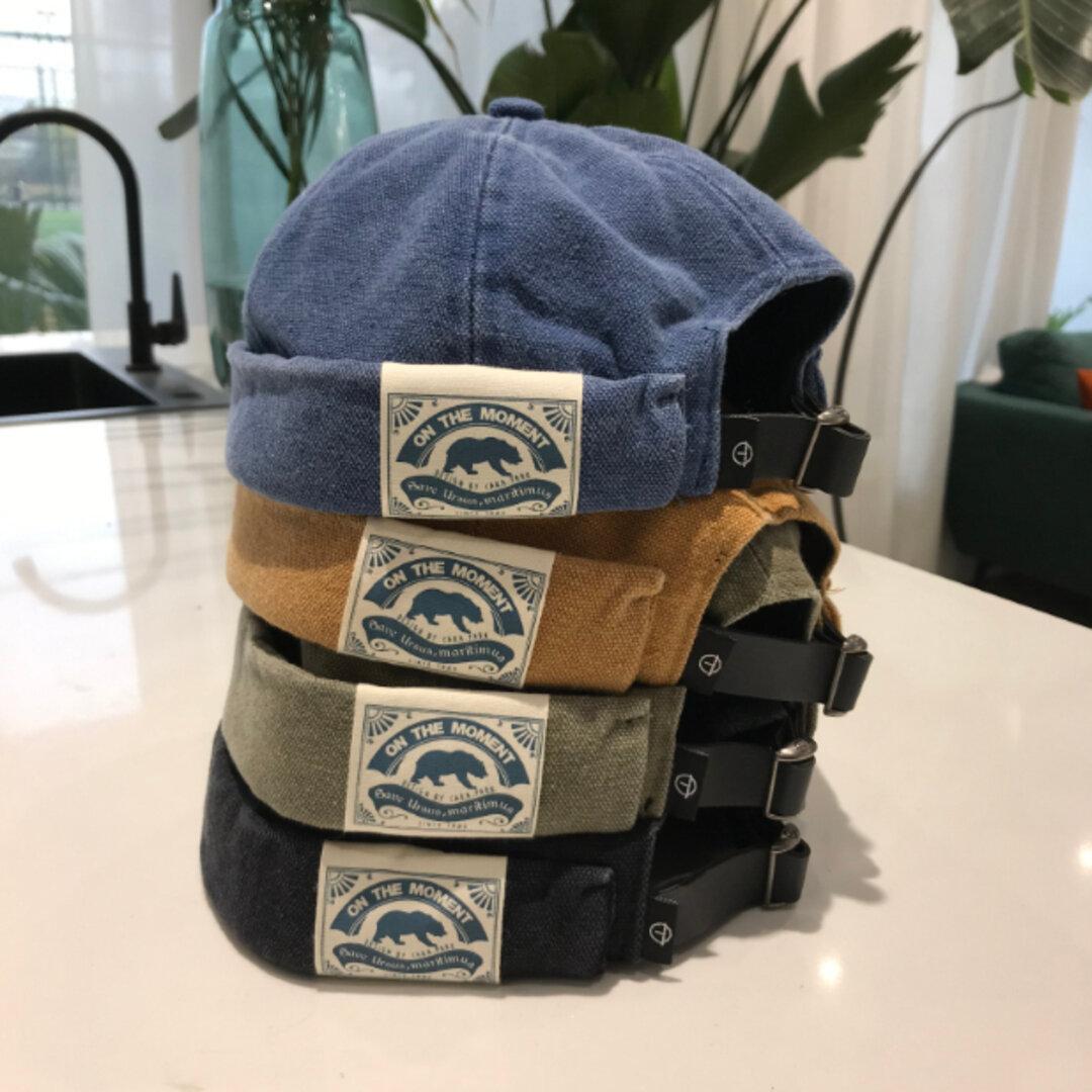 《全4色》日差しをよける コットン ナチュラルな帽子 夏 ユニセックス ベーシックなコットンキャップ リネン 帽 ユニセックス 刺しゅうキャップ