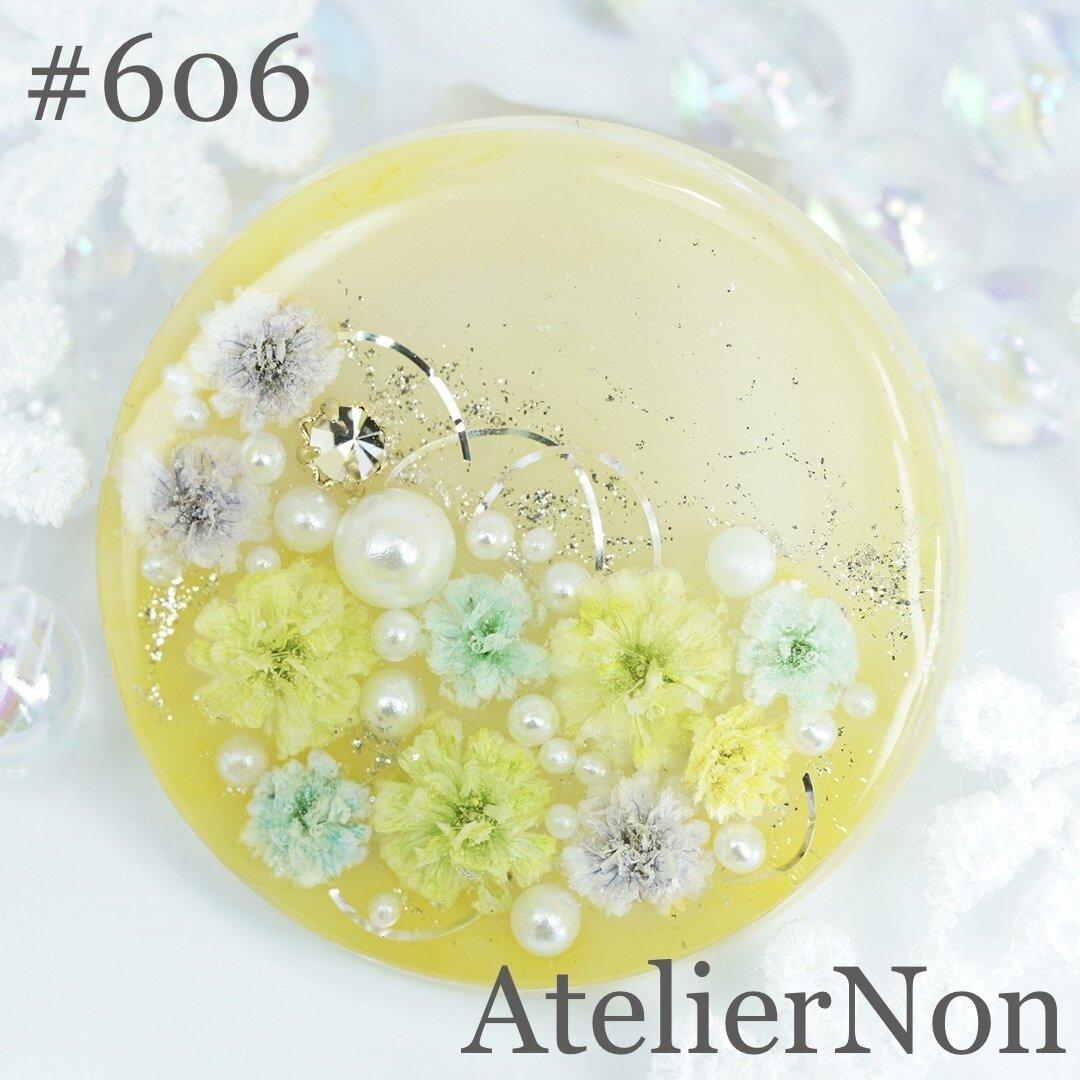 #606 かすみ草 ポニーフックorヘアゴム 黄色