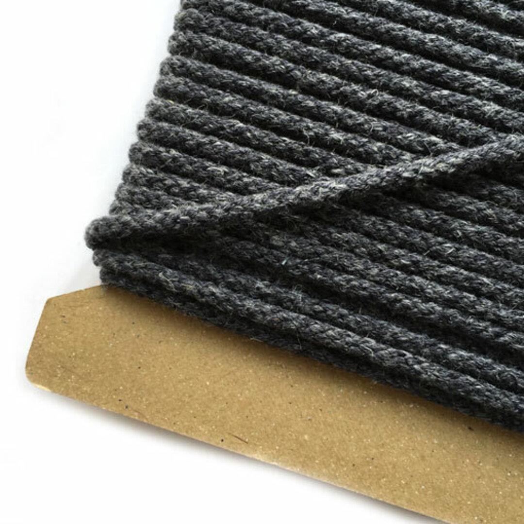 リネン混コード 約直径3mm ダークネイビー【5m単位切売り】ロープ 紐*