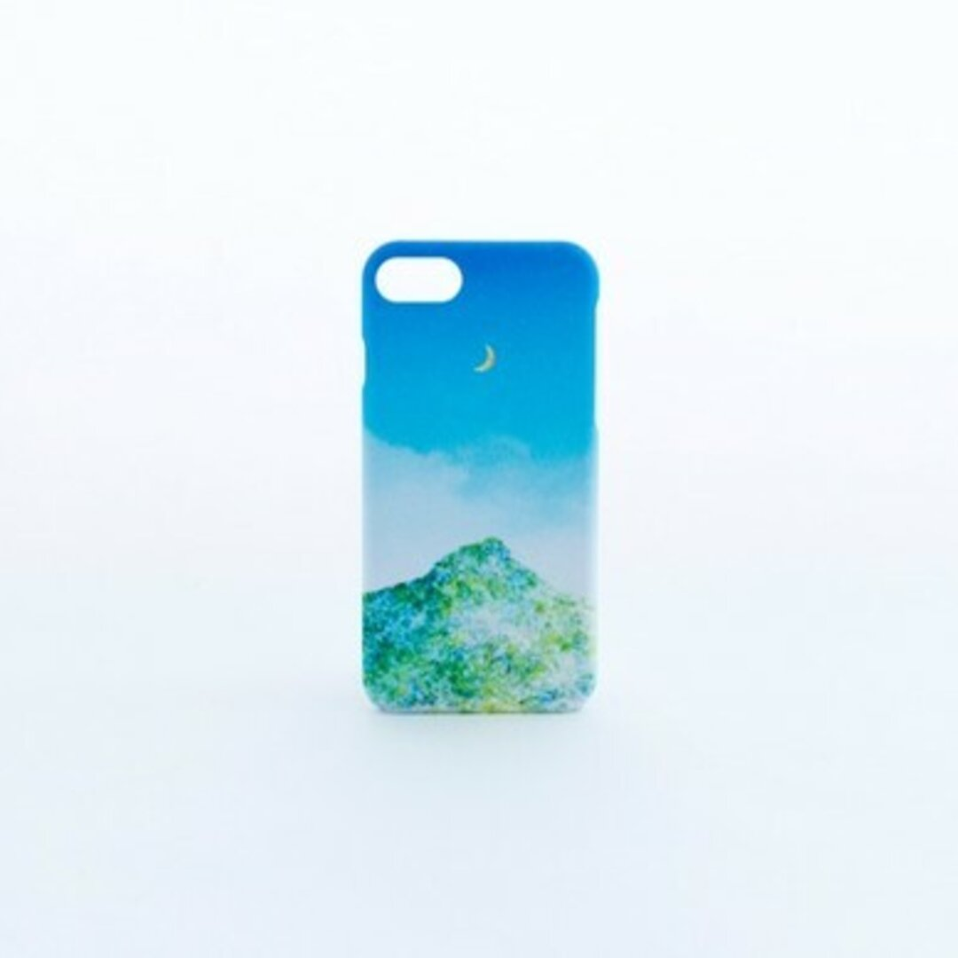 【送料無料】青空と山と月の、スマホケース
