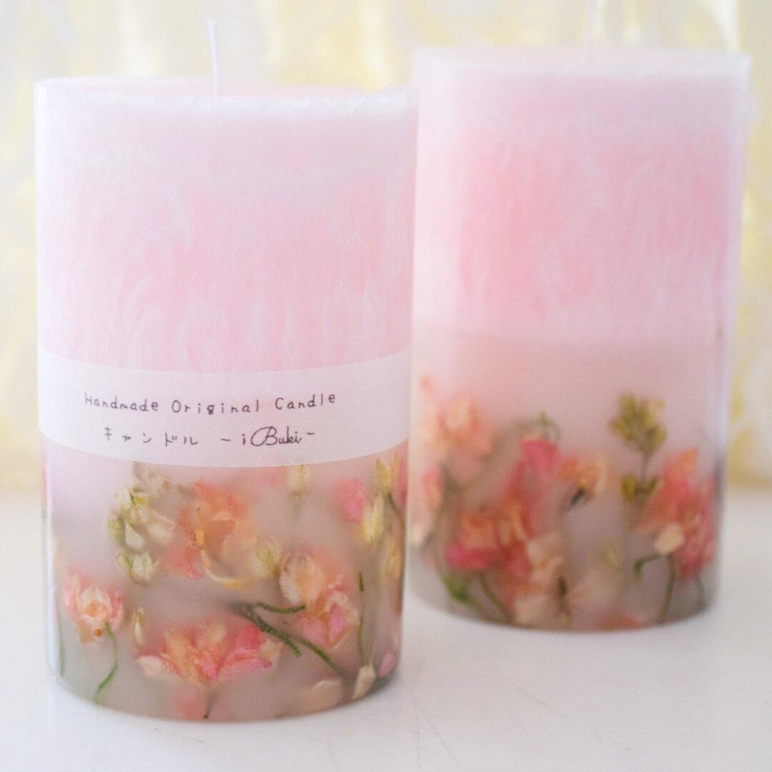 優しさ溢れるパームボタニカルキャンドル♡pureピンク