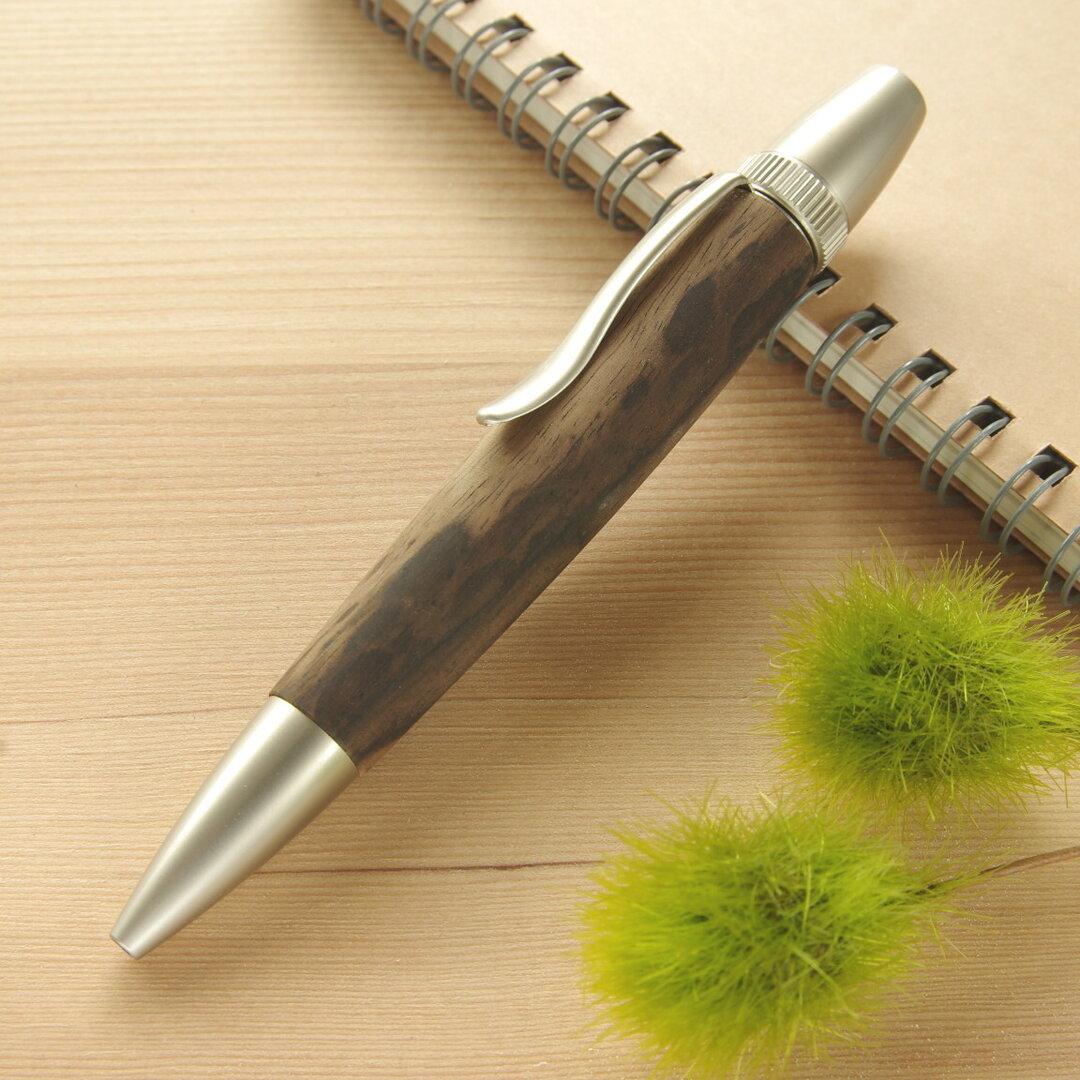 木製ボールペン クロガキ