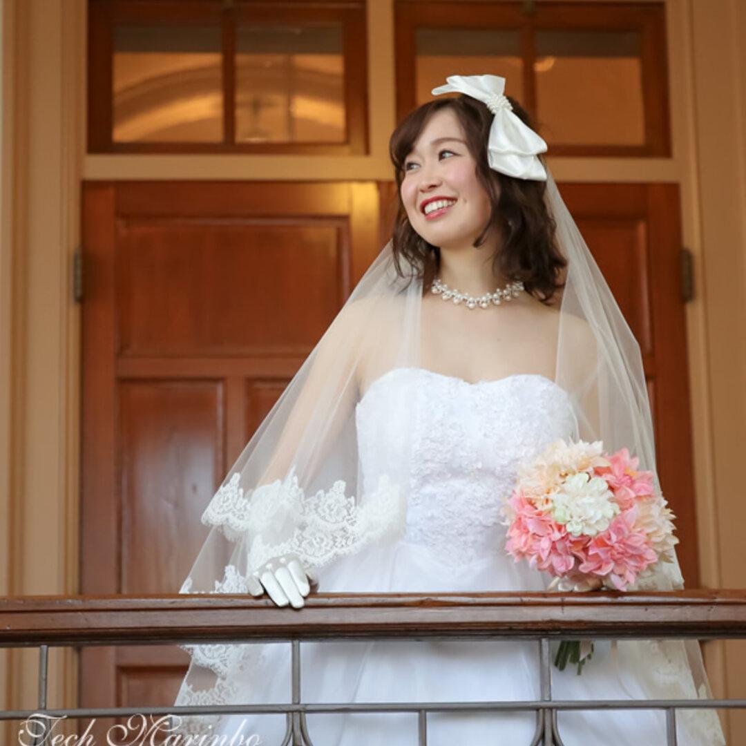 結婚式 手作りウエディングベールキット【リバーレース付き】ミドル丈