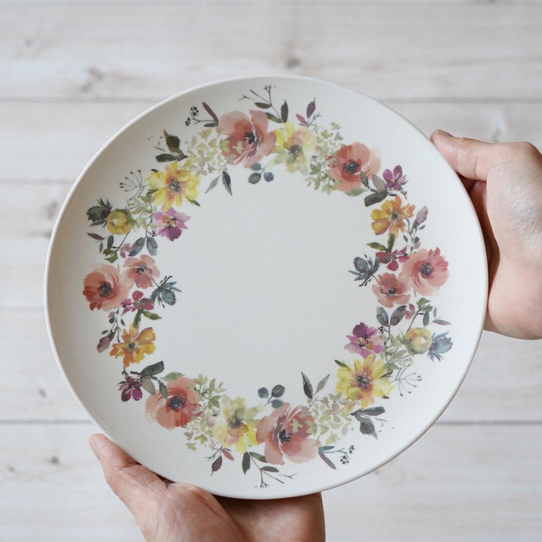 フラワーA 竹ファイバープレート お皿 2枚セット jrpb-flo-flowerA