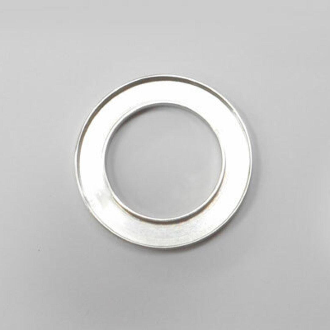 S◆Pキラキラ アクセサリー パーツ サークル 円形 チャーム 外径:23.0mm 手作り (ハンドメイド) ペンダントフレーム パーツ ステンレス316L (ステンレスカラー)