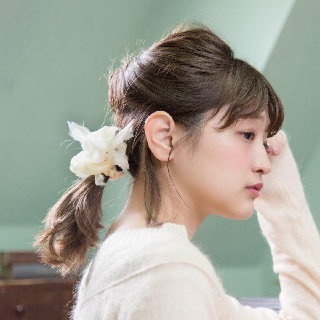 mini|タンポポ|彩る咲き編みシュシュ