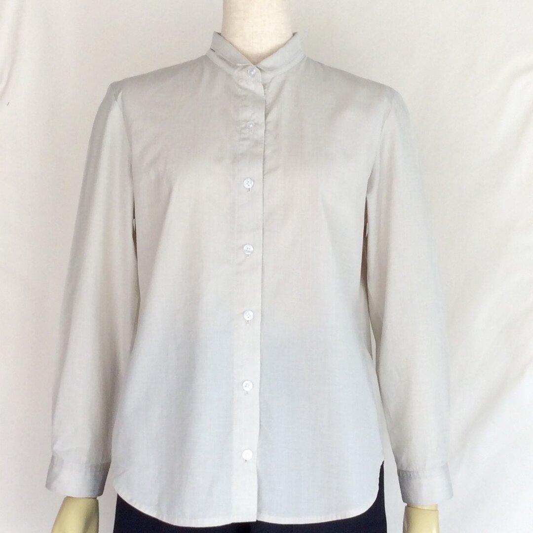 小さな衿のシャツ(ベージュ)