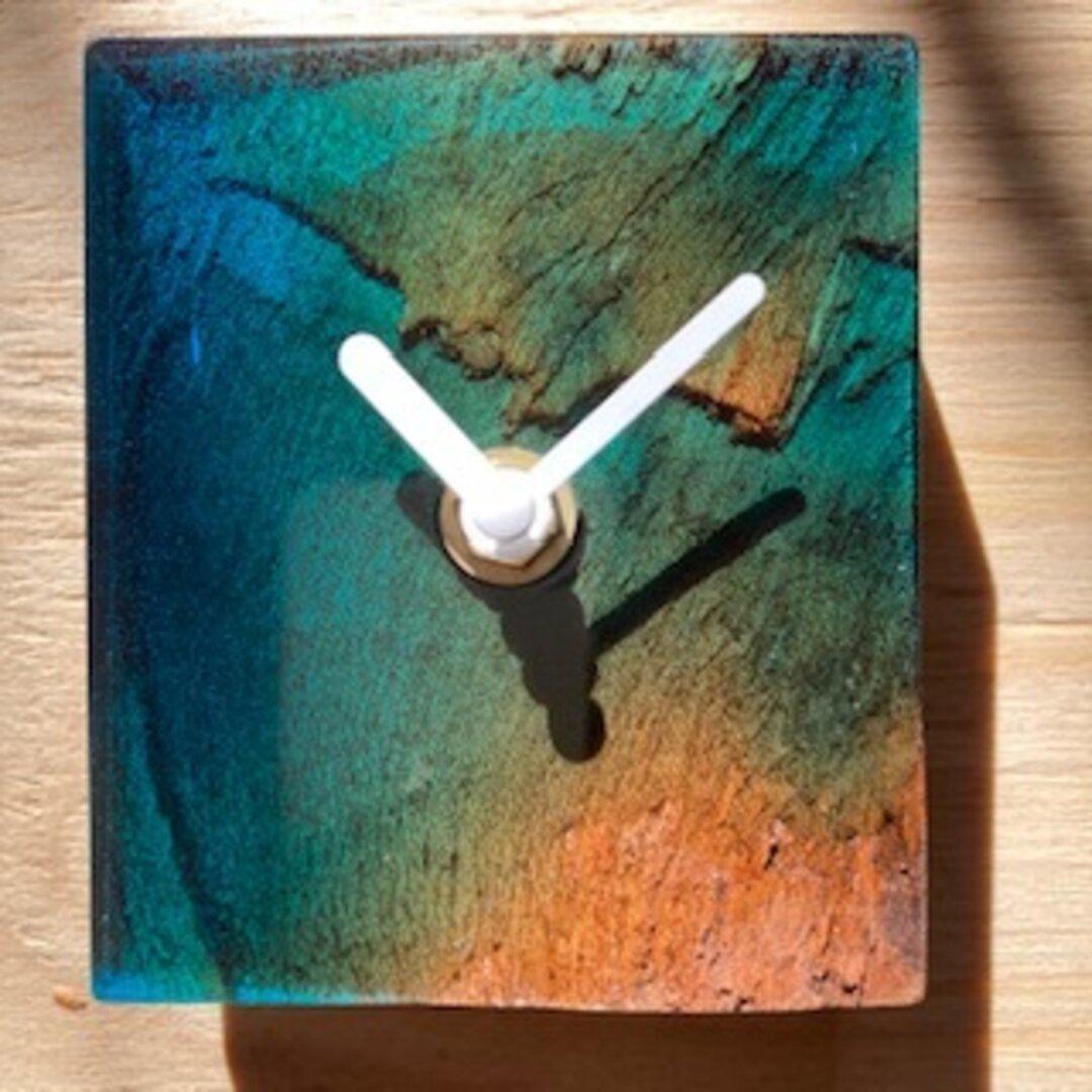 レジン クロック ウッド おしゃれ かっこいい 壁掛け時計(No6)