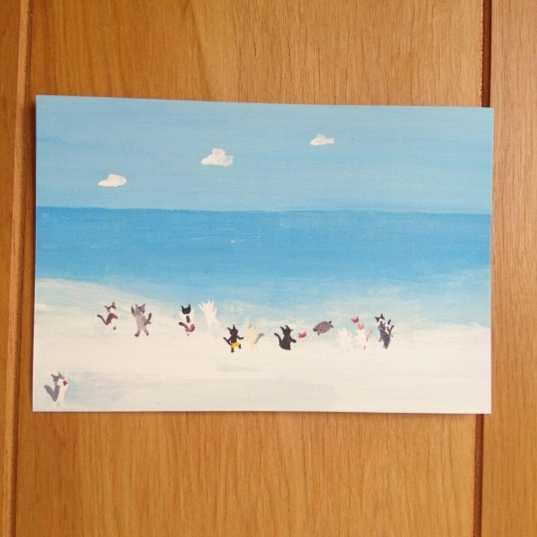 No.36  みんなで海水浴3   選べるポストカード2枚セット
