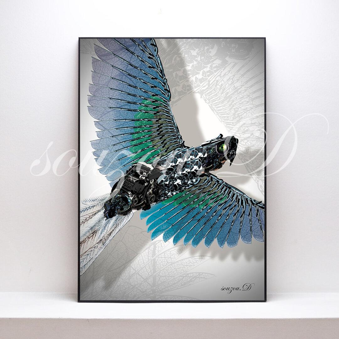 A3グラフィックアートポスター「bird02」