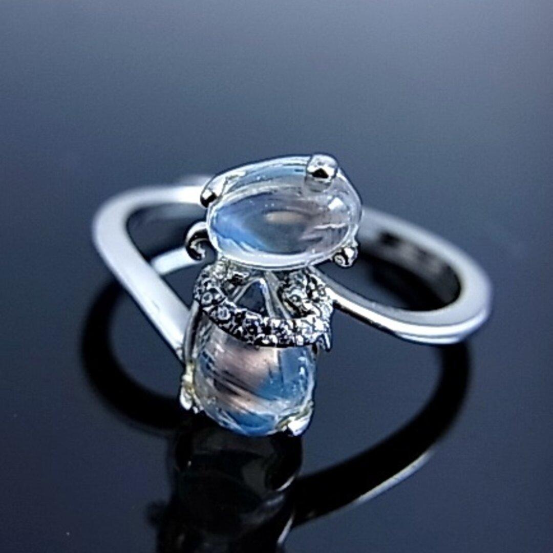 ◆月の光 ムーンストーン 可愛い ねこ リング 神秘的な輝き 愛を伝える 6月の誕生石 sv925 フリーサイズ E64