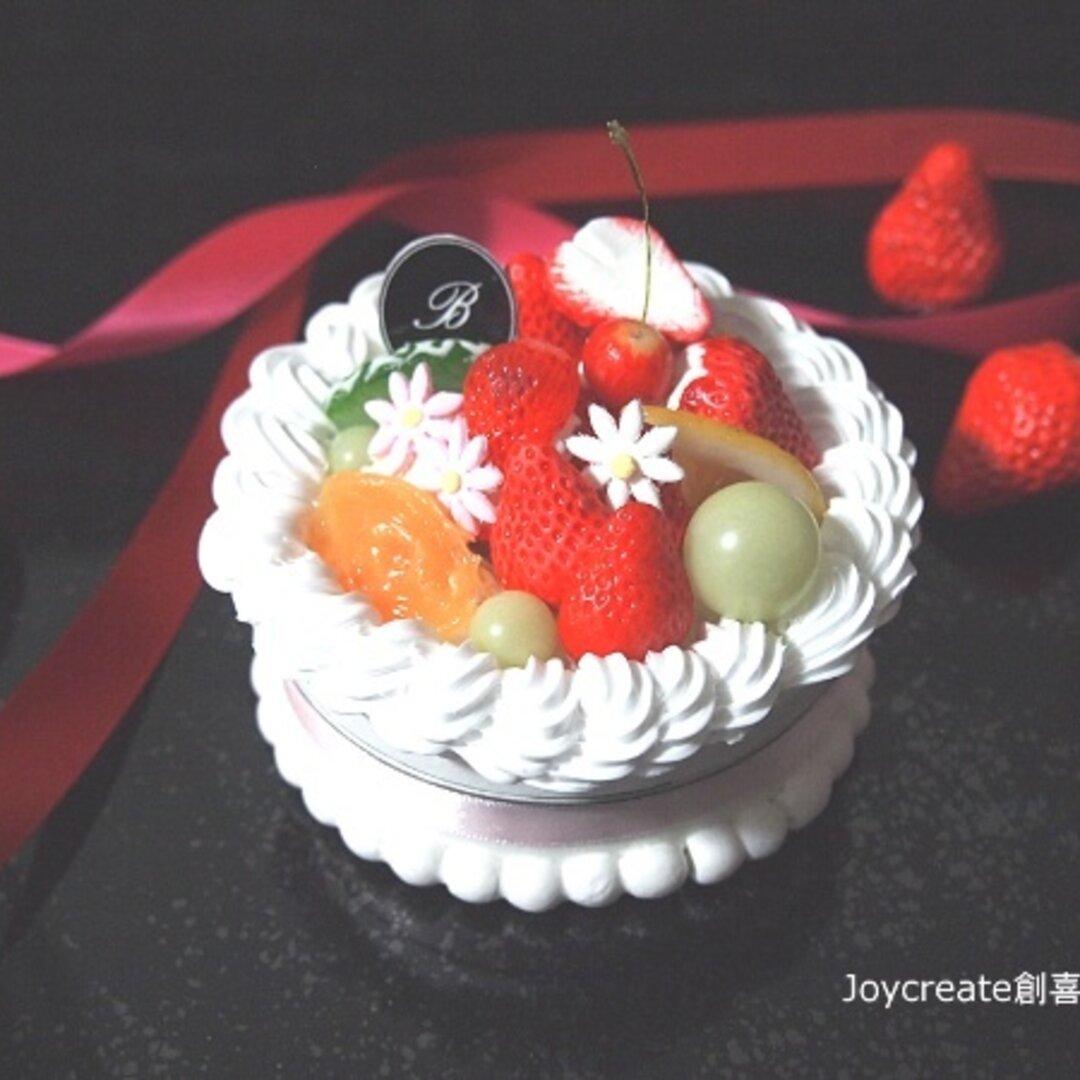 食品サンプル フルーツデコレーションケーキ型6 マグネット