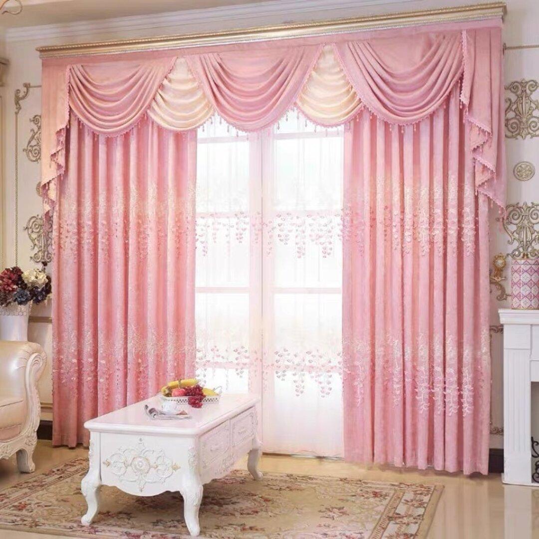 工場から直販 バランス ドレープカーテン  レースカーテン おしゃれ ピンク オーダーメイド 遮光カーテン サイズ カーテン幅 スタイル きれい インテリア 雑貨 引っ越し プレゼント 寝室 リビング