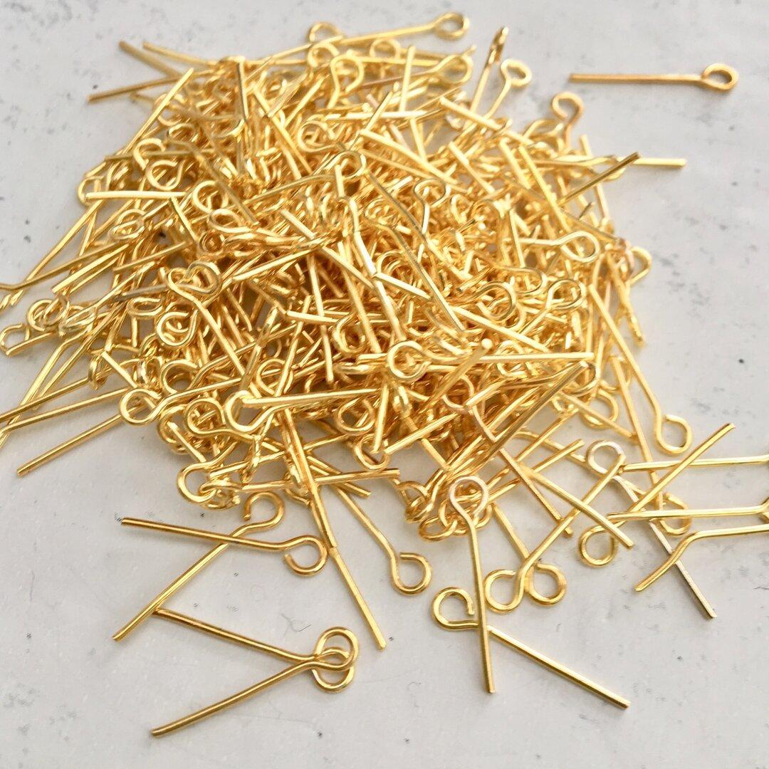 9ピン 大量300本(ゴールド 16mm)ビーズ パーツ アクセサリーパーツ