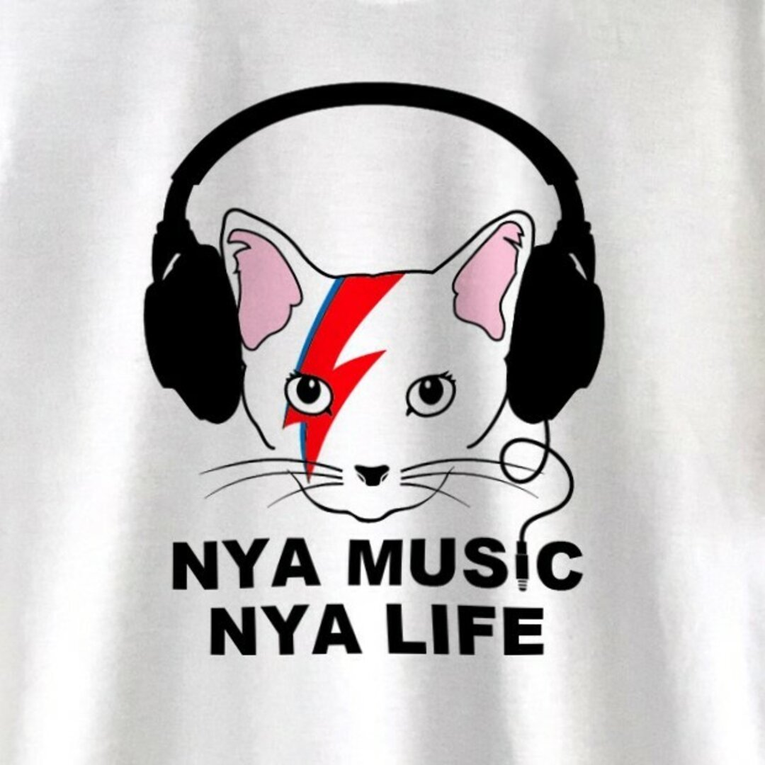 NYA(ニャー)MUSIC / BOWIE / Tシャツ