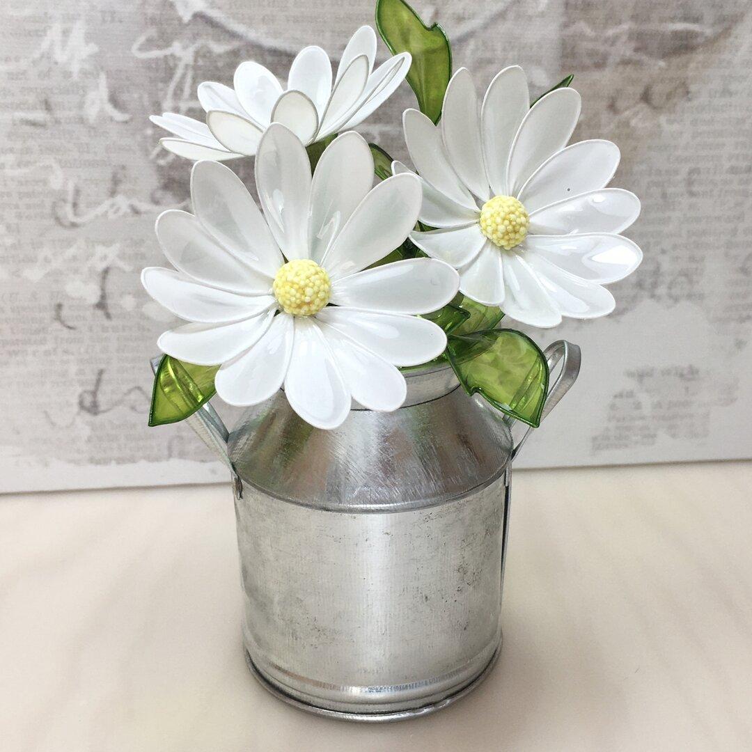 ガラスみたいな花・マーガレット・清楚な白