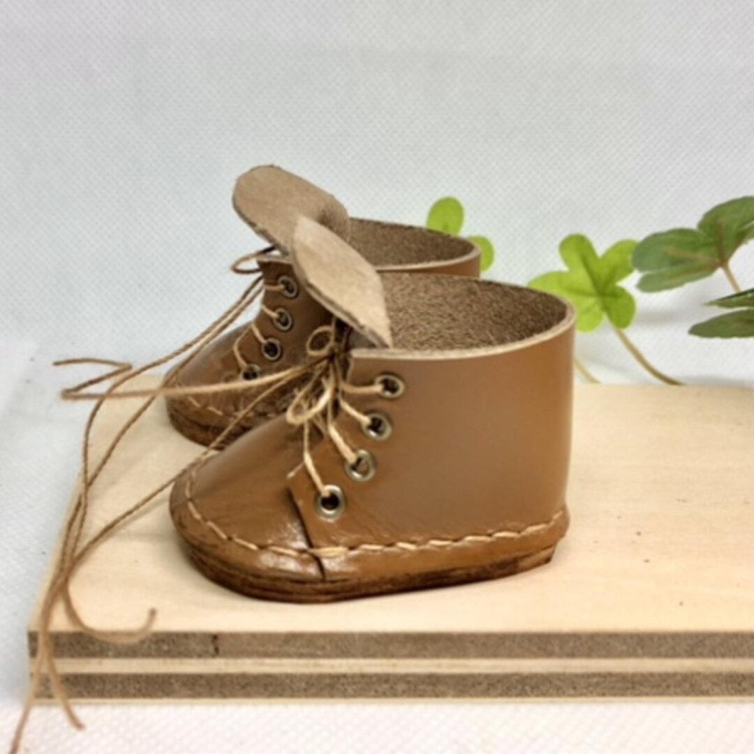革細工 メルちゃんサイズブーツ miniature boots.