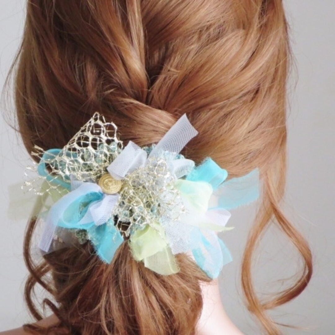 エアリーなカラーが織りなすオーガンジーヘアゴム3007♡使うたび気分も上がる華やかな色!