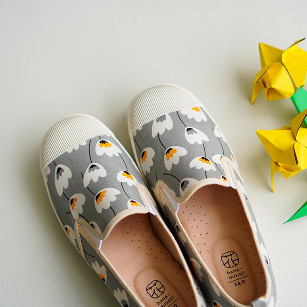 【ぷっくり ふわりグレー】シューズ・靴【花見小路‐hanamikoji】