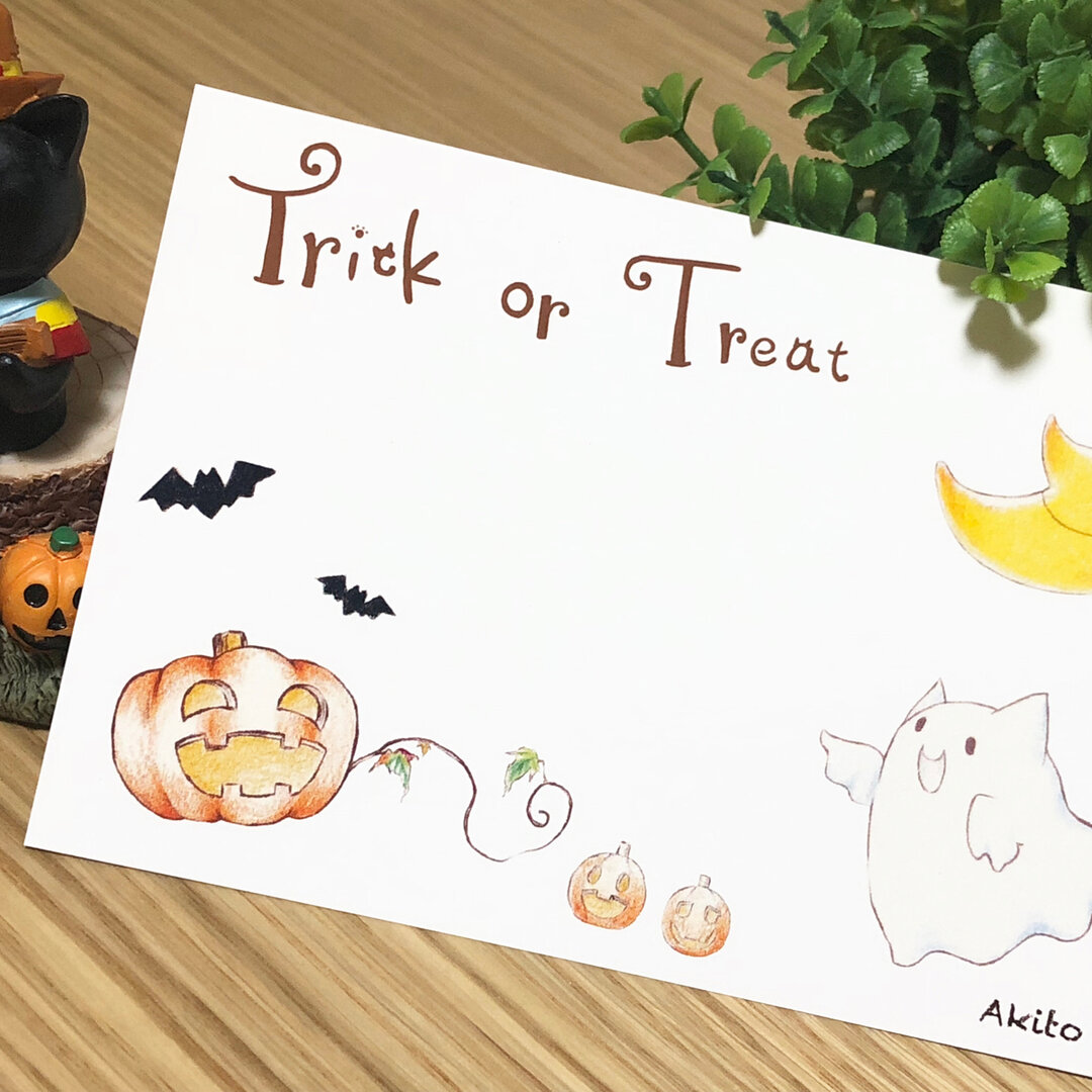 Halloween cat おばけ