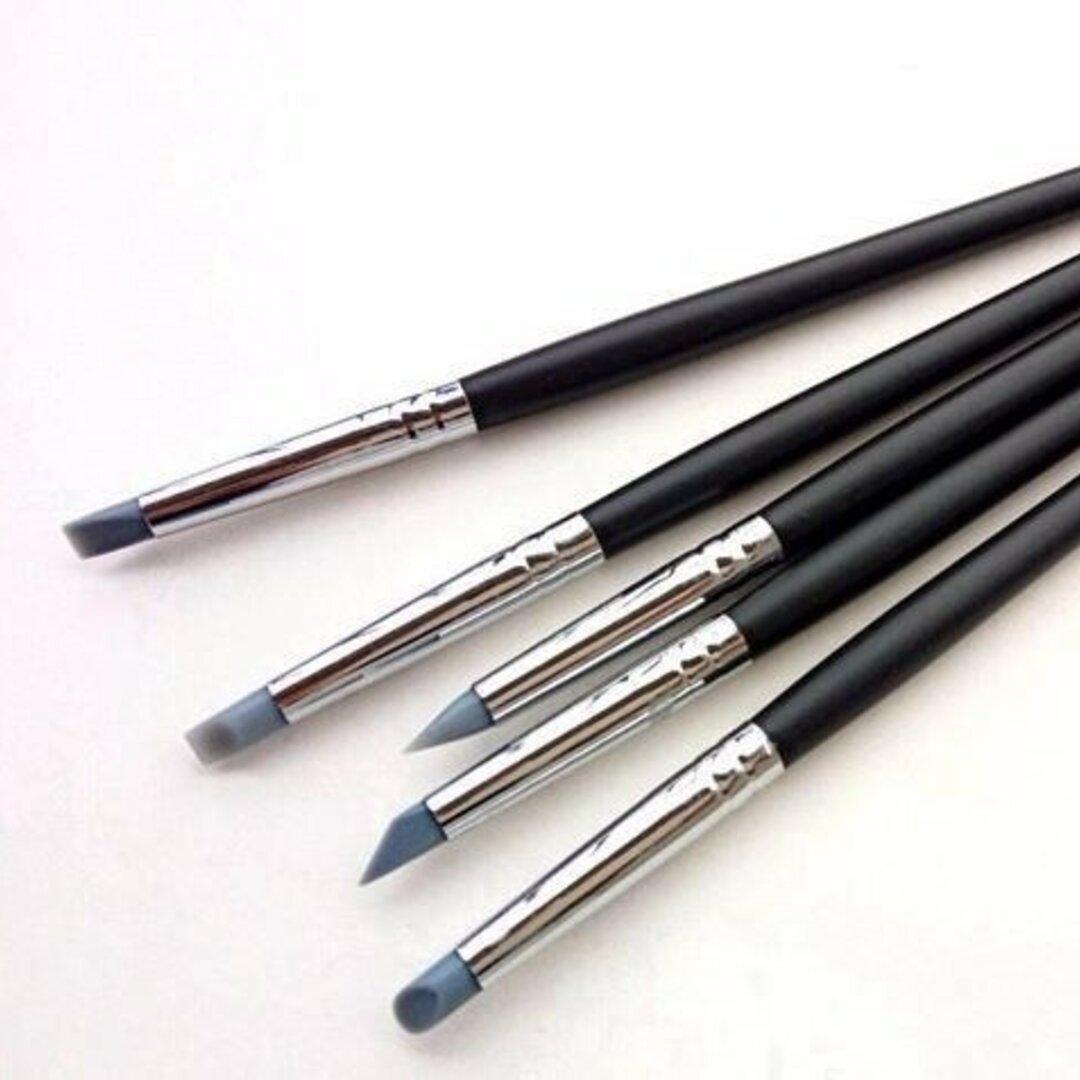 シリコン筆 5本セット レジン ツール 着色 調色スティック