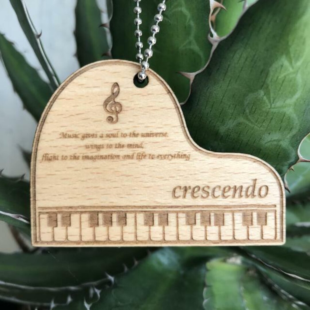 Pianoネームプレート/木製《受注製作》