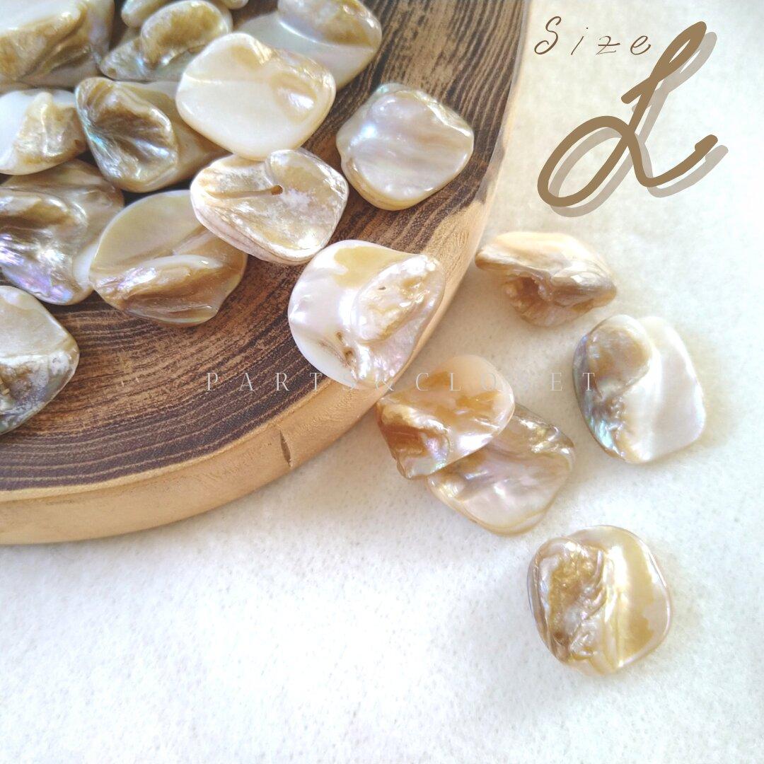:8pcs:import shell beads 〈L〉シェル マザーオブパール