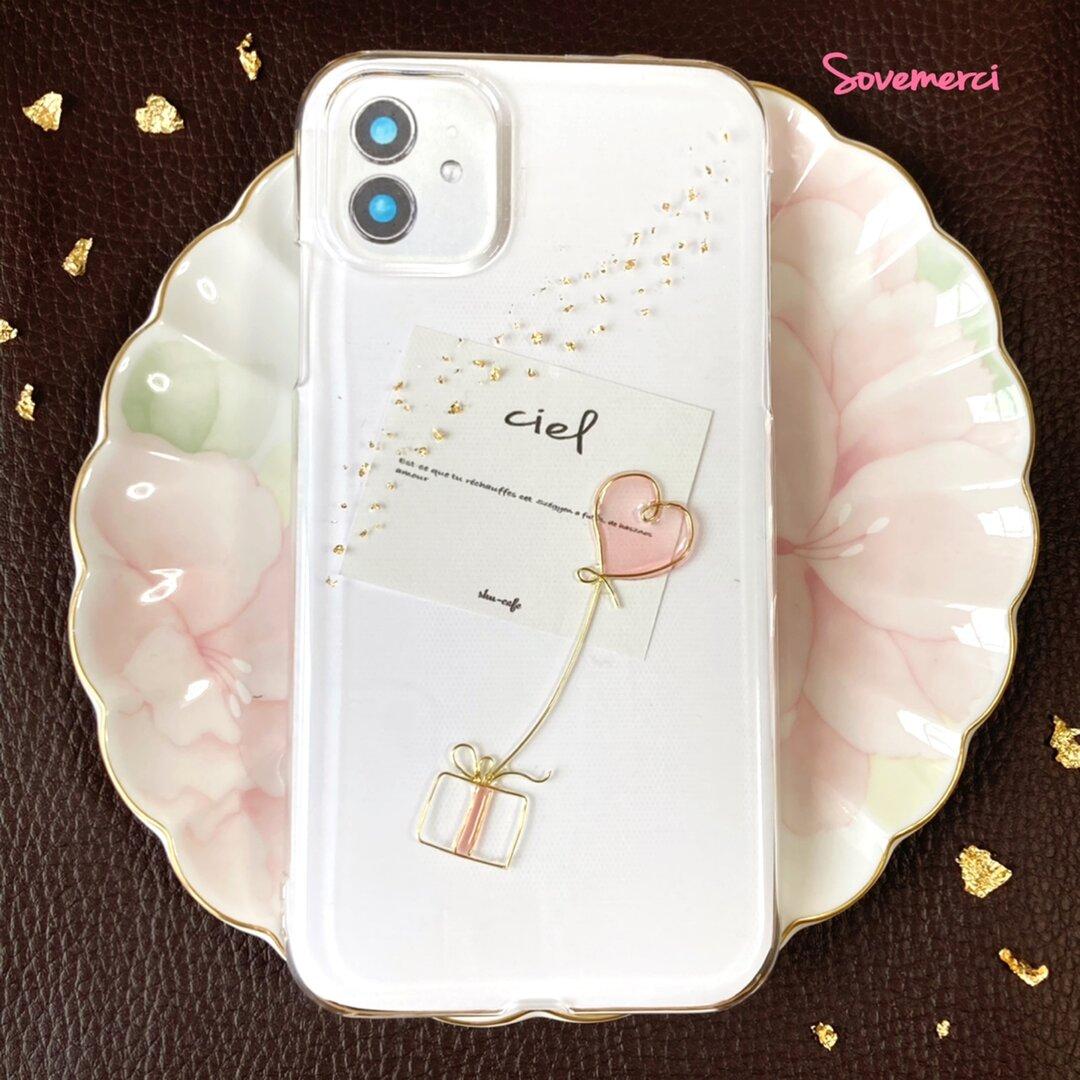 限定価格! iPhoneケース iPhone12 iPhone11 iPhoneSE iPhoneケース ゴールド クリア スマホ ケース 金箔 風 スマートフォン ワイヤー mini pro