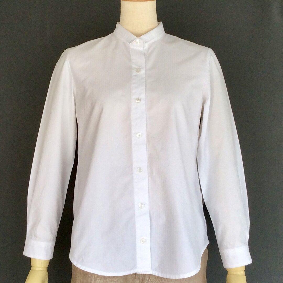 小さな衿のシャツ(白)