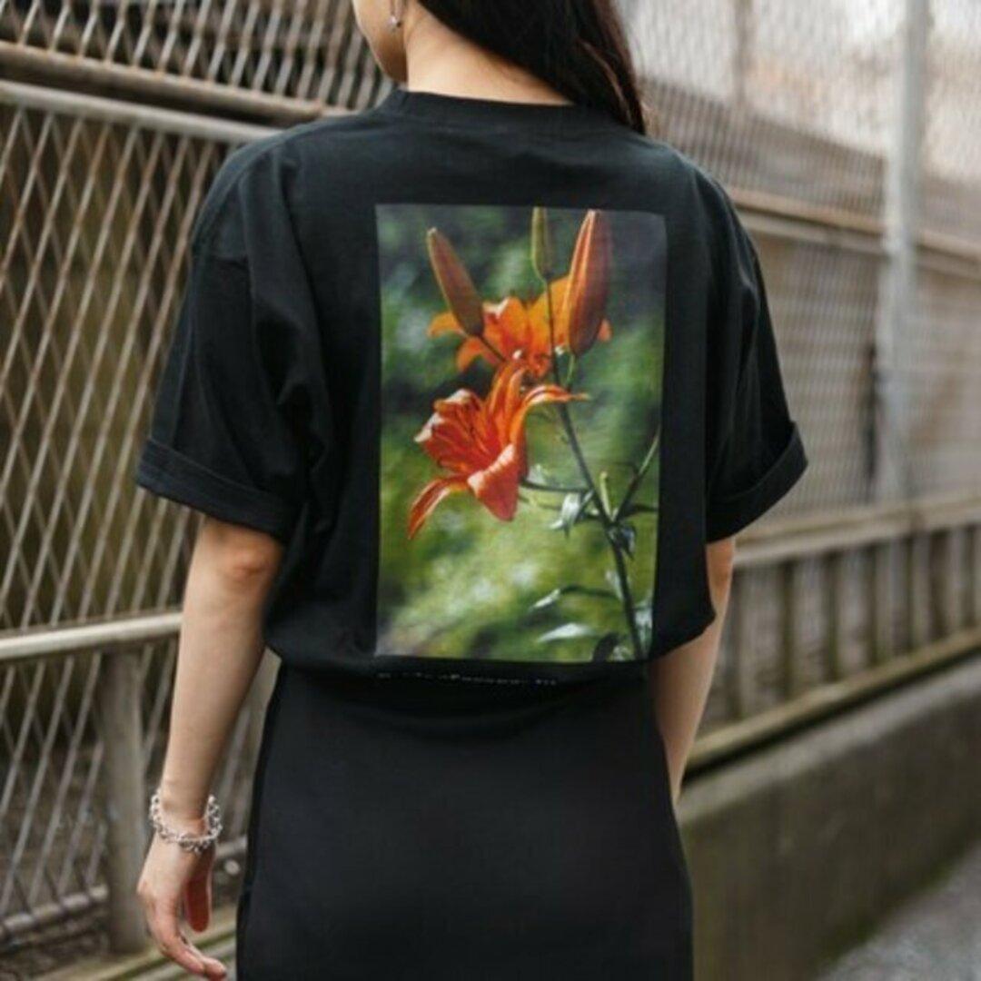 送料無料【OPTIMUS】レディースバックプリントTシャツ_003オニユリ ユニセックス