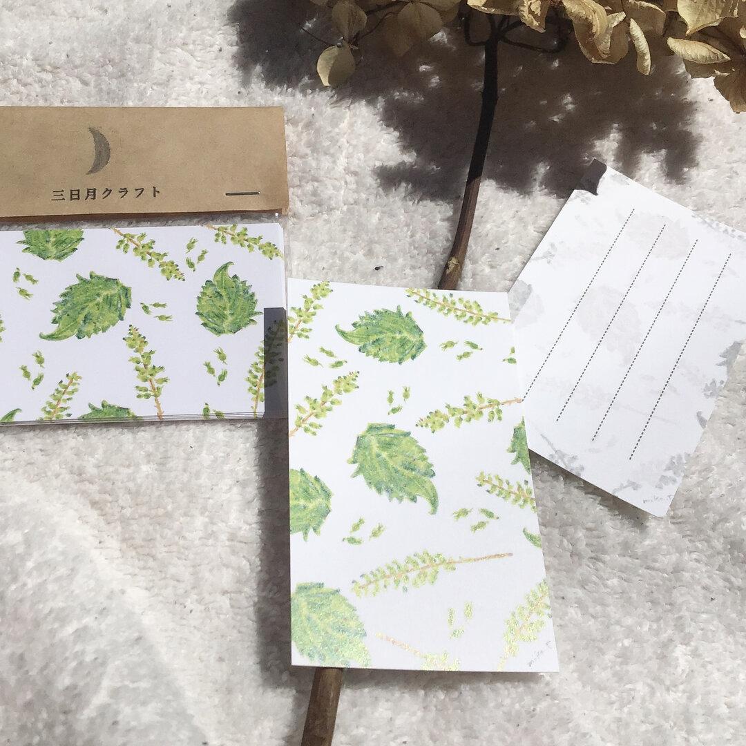 【メッセージカード】身近な植物シリーズ〜紫蘇〜