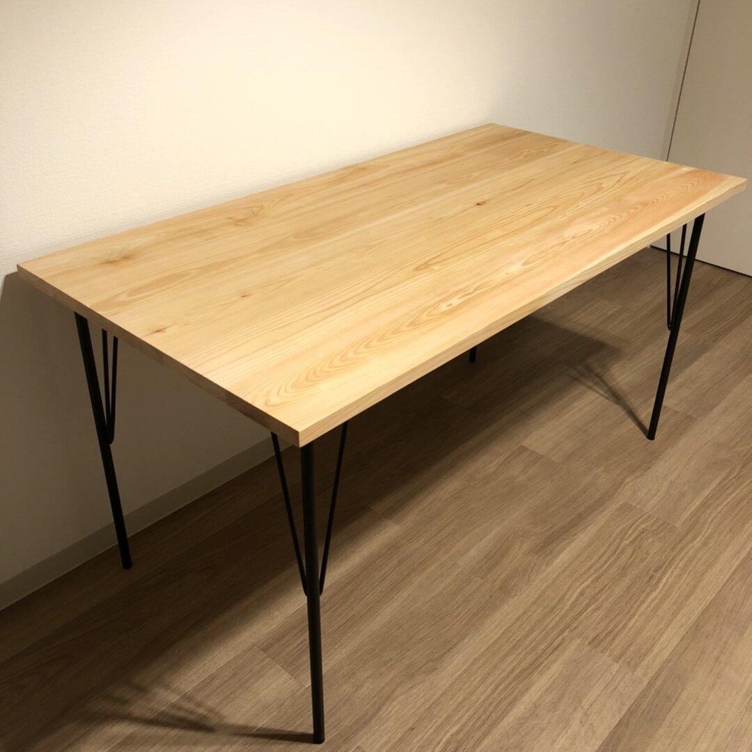 桧のダイニングテーブル 700×1300mm 高さ約700mm