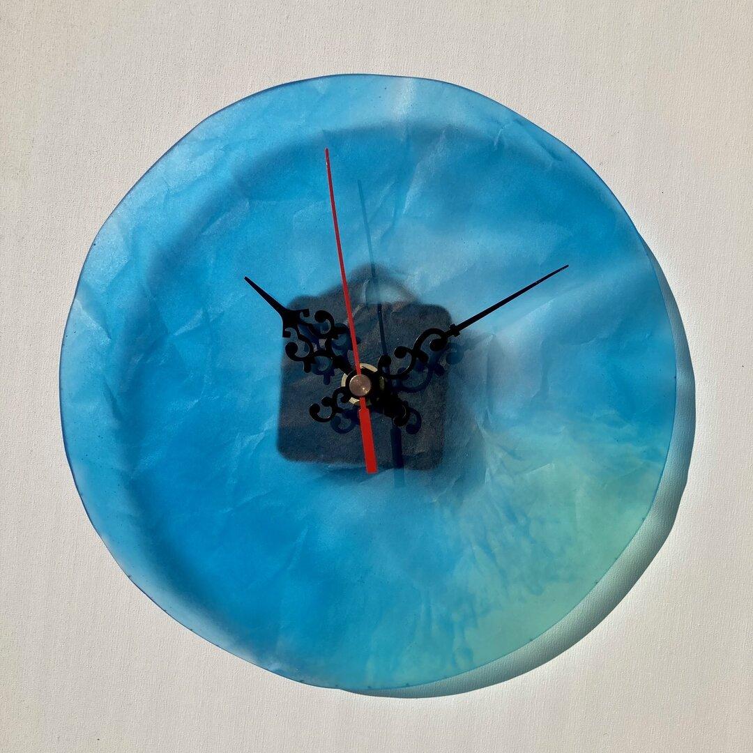 壁掛け時計、かわいい、ハンドメイド、レジン、(No69