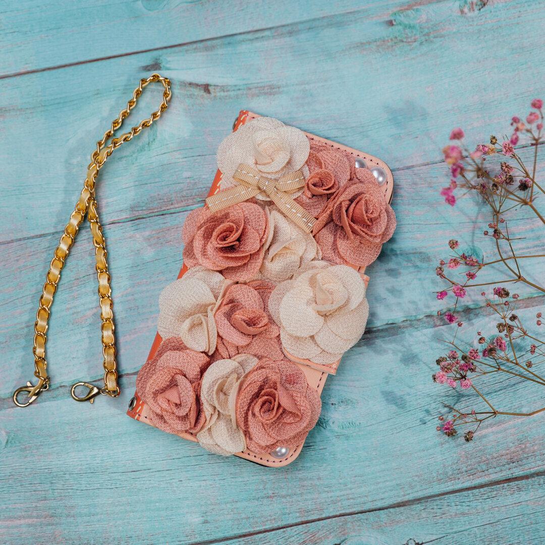 スマホケース手帳型 バラの花 iphone12Pro phone11 iphoneXS iphoneSE2 iPhoneケース 付属品有無