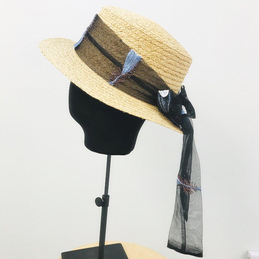 帽子☀夏帽子 アウトドア ストローハット レディース ハット 日よけ帽子 夏のお出かけ 夏 ハンドメイド
