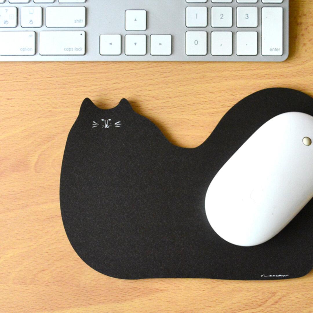 マウスパッド_まったりくろねこ