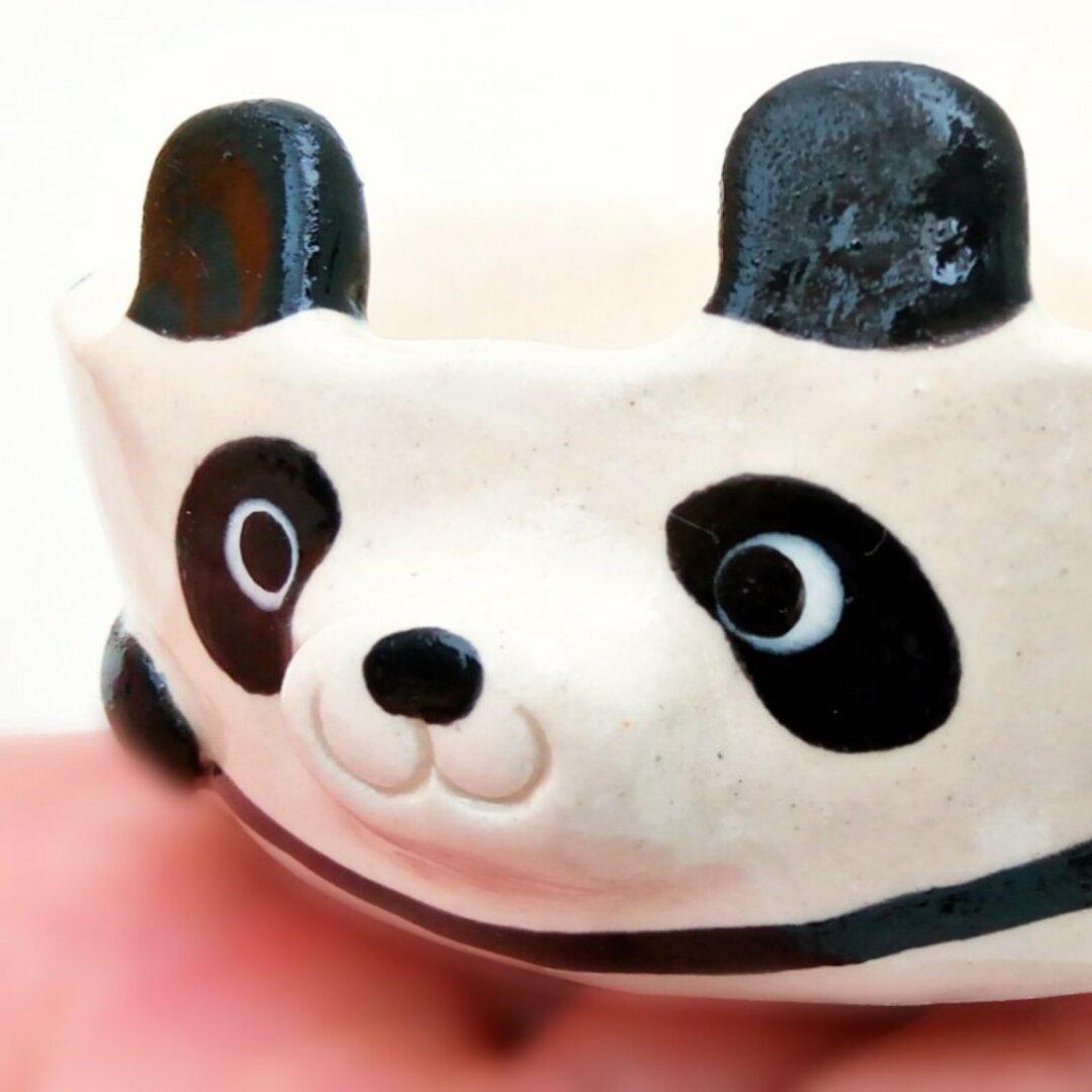 お子様用パンダスープカップ 動物陶器 プレゼントにもどうぞ!