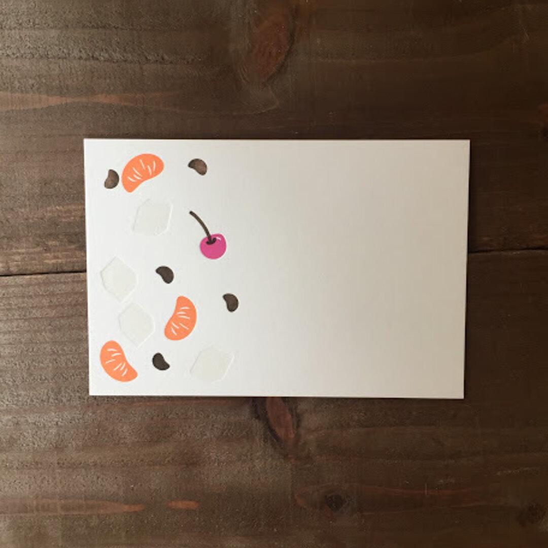 あんみつ ポストカード(横書き)