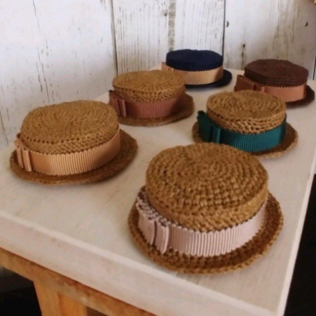 秋冬カラー タミーちゃん用 カンカン帽   6パターン 15.5㎝
